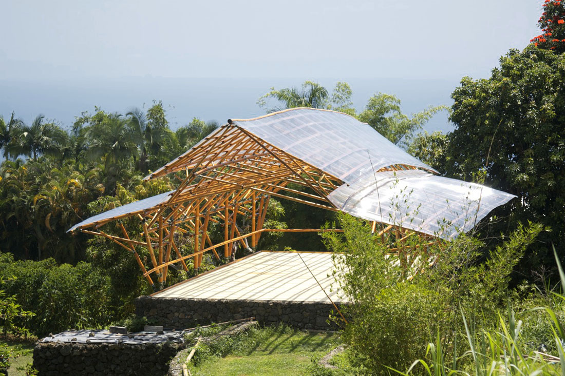 Bamboo Wave Pavilion Hawaii Bamboo Construction